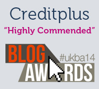 Creditplus highly commended at the UK Blog Awards