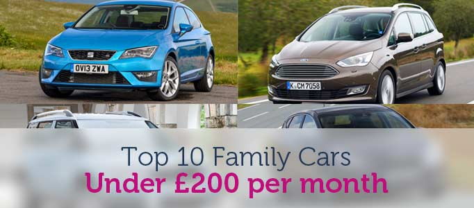 top 10 family cars under 200 per month