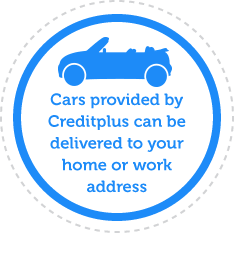 Cars provided by Creditplus can be delivered to your home or work address