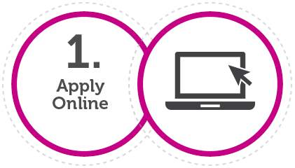 Creditplus 1st application step: Apply online