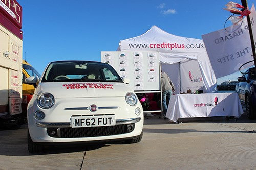 fiat 500 bournemouth wheels festival stand
